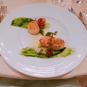 皮がパリパリの美味しいお魚料理|503245さんの神戸迎賓館 旧西尾邸の写真(637688)