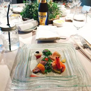 乾杯前に頂けるお料理。おしゃれなジャーは、ウェルカムドリンク|503726さんのBLOOM by maruya gardensの写真(654006)
