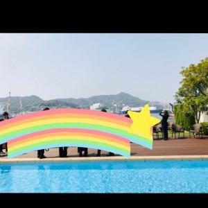 プールのある庭?です。海見えて綺麗でした。|504051さんのベイサイド迎賓館(長崎)の写真(634749)