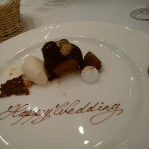 ケーキの演出|505635さんのChapel &Dining by CASA DOLCEの写真(640659)