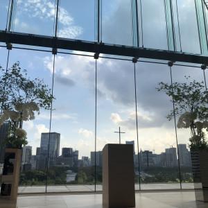 開放感溢れるチャペルです。|509656さんのパレスホテル東京(PALACE HOTEL TOKYO)の写真(673969)