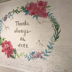 インスタ映えの壁|509679さんのチャペル・ド・コフレ札幌の写真(662504)