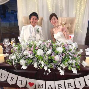 チュールライトをオプションでつけました 装花はプラン内です|509809さんの札幌パークホテルの写真(721381)