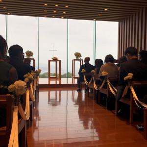 逆光で少し暗いですが、素敵な挙式会場でした。|510507さんの日本平ホテルの写真(666489)