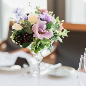 テーブル装花は暗めの照明に合うようキャンドルを使用しました。|511624さんのアンティカ・オステリア・デル・ポンテの写真(975634)