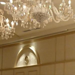 ロイヤルパールルームのシャンデリアはエルメスと説明されました|511760さんの杉乃井ホテル&リゾートの写真(674479)