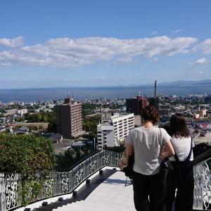 チャペル外の大階段。 ブーケトスなどの演出を行えます|511760さんの杉乃井ホテル&リゾートの写真(673780)