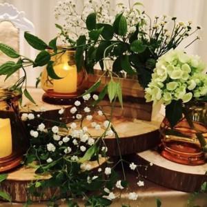 高砂の装花。かわいかったです|513338さんのアビー・ラ・トゥール教会(ウエディングセントラルパーク)の写真(681223)