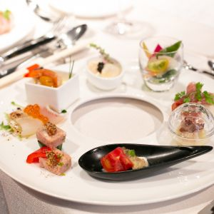 15000円コースの前菜です。|513618さんの8G Horie RiverTerrace Weddingの写真(682028)