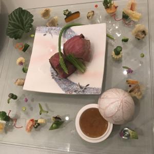 お肉料理。素敵な盛り付けでした。|513812さんのVilla de Rosaの写真(684224)