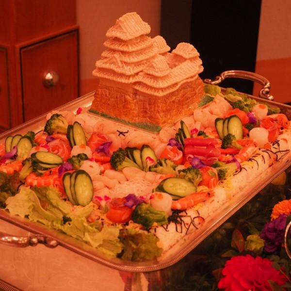 ケーキ入刀の代わりのちらし寿司です!