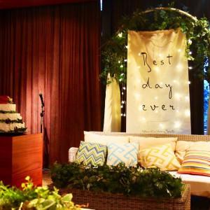 ナチュラルな雰囲気の会場内。 514392さんの8G Horie RiverTerrace Weddingの写真(685302)