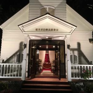 夜の教会 514394さんの軽井沢白樺高原教会/ホテルグリーンプラザ軽井沢の写真(700628)