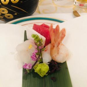 結婚式でお刺身は喜ばれます。|514707さんのロイヤルガーデンパレス 柏 日本閣の写真(686927)