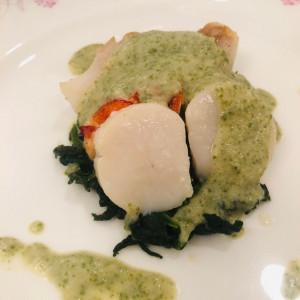 フレンチの魚料理。帆立に海老に大好評。|514707さんのロイヤルガーデンパレス 柏 日本閣の写真(686929)
