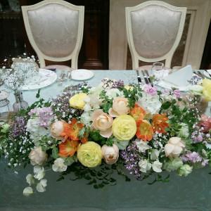 メインテーブル装花|514764さんのキャメロットヒルズの写真(709535)