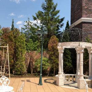中庭のようなところがあります。前撮りで利用しました。|515135さんのモルトン迎賓館 仙台の写真(687210)