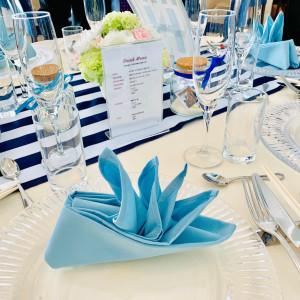 披露宴会場テーブル飾り|515357さんのシーサイド リビエラの写真(782087)