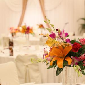 お花も自分達で選びました♪|517150さんのハワイアンズ ホテル ウエディングの写真(729082)