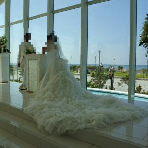 挙式終わりのポージング撮影です|517984さんのシー シェル ブルー/サザンビーチホテル&リゾート●小さな結婚式の写真(695155)