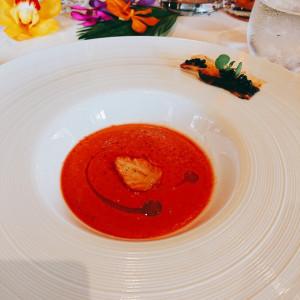 いちごとトマトのスープです。|522288さんのザ・リッツ・カールトン沖縄の写真(713939)