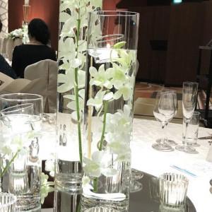 ゲスト用テーブルの装花コーディネート 524114さんのANAクラウンプラザホテル大阪の写真(726031)
