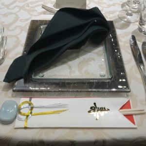 ゲスト用テーブルのナフキン等コーディネート 524114さんのANAクラウンプラザホテル大阪の写真(726033)
