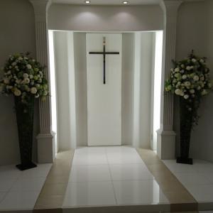 人前式のときは十字架が外れるそうです。|525150さんの小さな結婚式 浦和店の写真(730376)