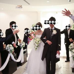 フラワーシャワー|525345さんの小さな結婚式 浦和店の写真(744956)