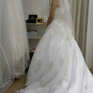 衣装合わせ|525345さんの小さな結婚式 浦和店の写真(744949)