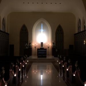 照明を落とした雰囲気|526030さんの赤坂ル・アンジェ教会の写真(737276)