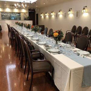 長テーブルの会場|526030さんの赤坂ル・アンジェ教会の写真(737281)