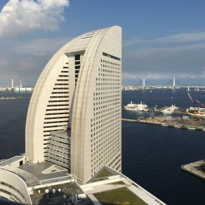 披露宴会場から見える景色|527448さんの横浜ベイホテル東急の写真(745398)
