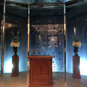 夜に見学したときの挙式会場です。|529079さんのヴィラ・グランディス ウェディングリゾート 福井の写真(764209)