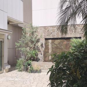 庭はそんなに広くないです。 529923さんのラグナスイート NAGOYA ホテル&ウェディングの写真(762652)