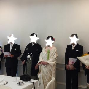 花束贈呈後の謝辞|530232さんのRoyal Garden Palace 八王子日本閣の写真(769330)