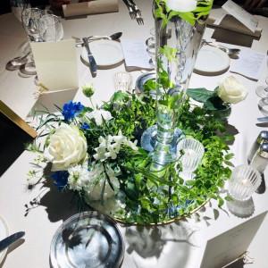 ゲストテーブルの装花はふたパターンにしました|530367さんのヨコハマ グランド インターコンチネンタル ホテルの写真(764532)