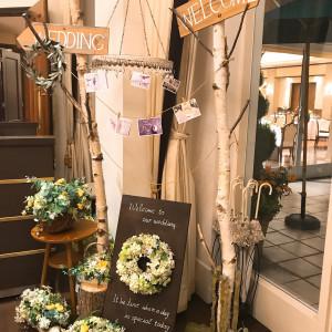 ウェルカムガーデンパーティーをする場所の装飾 530395さんのアニヴェルセル 江坂の写真(764514)
