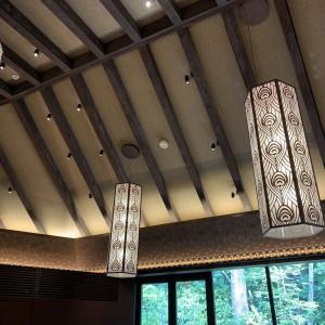 孔雀の羽根模様がいろんなところにありました。|530541さんのアカガネリゾート京都東山(AKAGANE RESORT KYOTO HIGASHIYAMA)の写真(765704)