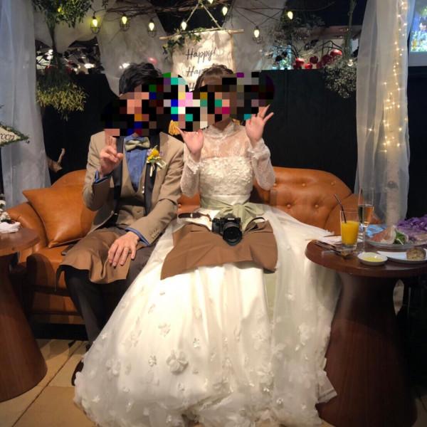 高砂ソファにて 一眼レフカメラは持参です!