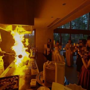 お料理の演出|531803さんの星野リゾート 軽井沢ホテルブレストンコートの写真(778620)