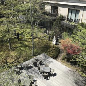 中庭|532660さんの旧軽井沢 キキョウ, キュリオ コレクション バイ ヒルトン(元:旧軽井沢ホテル)の写真(782556)