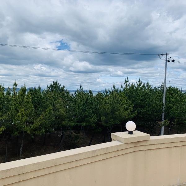 アフターセレモニー会場からの眺め。海が見えて美しさ