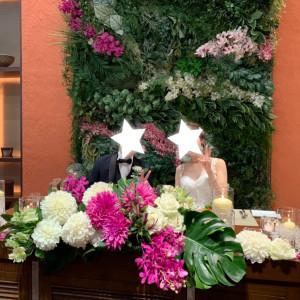 高砂装花 プラス料金でキャンドル等置いてもらいました|532771さんのGRANADA SUITE 福岡(グラナダスィート福岡)の写真(782296)