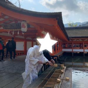 神社なので手を清めます|532943さんの厳島神社の写真(961272)