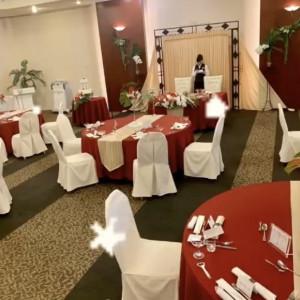 披露宴会場のモアナです。 装花、内装は自分達で決めました。|532969さんのハワイアンズ ホテル ウエディングの写真(783747)