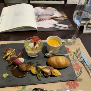 試食会プレート|533478さんのガーデンヒルズ迎賓館(松本)の写真(788101)