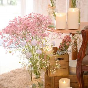 お花も伝えた雰囲気で かざってもらえました!|534162さんのマリコレ ウェディング リゾートの写真(793384)