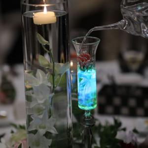 光る液体によるテーブルまわり|534433さんのキャナルサイド ララシャンスの写真(800675)