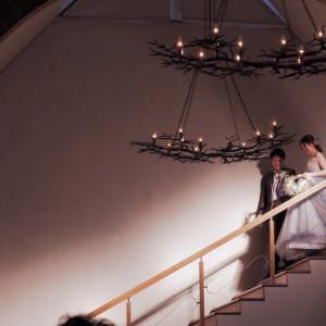 お色直し再入場(階段から) 534563さんのラ・クラリエールの写真(795898)